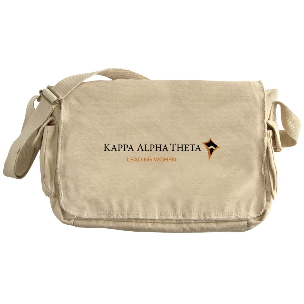 CafePress - Kappa Alpha Theta Leading Women - Unique Messenger Bag, Canvas Courier Bag