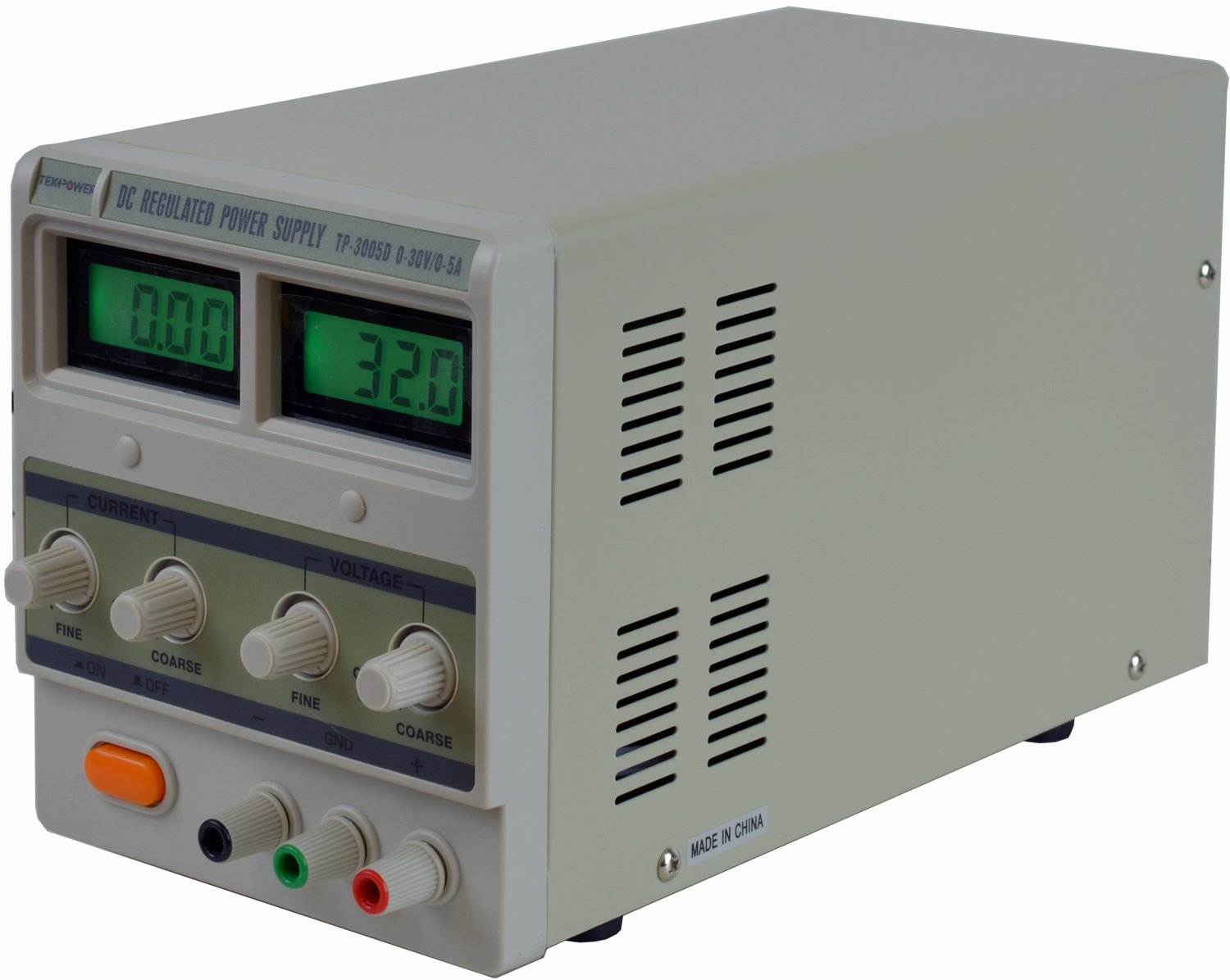 0-30V @ 0-5A with Alligator Cable and Power Cord Tekpower TP3005D Digital Variable Linear Type DC Power Supply