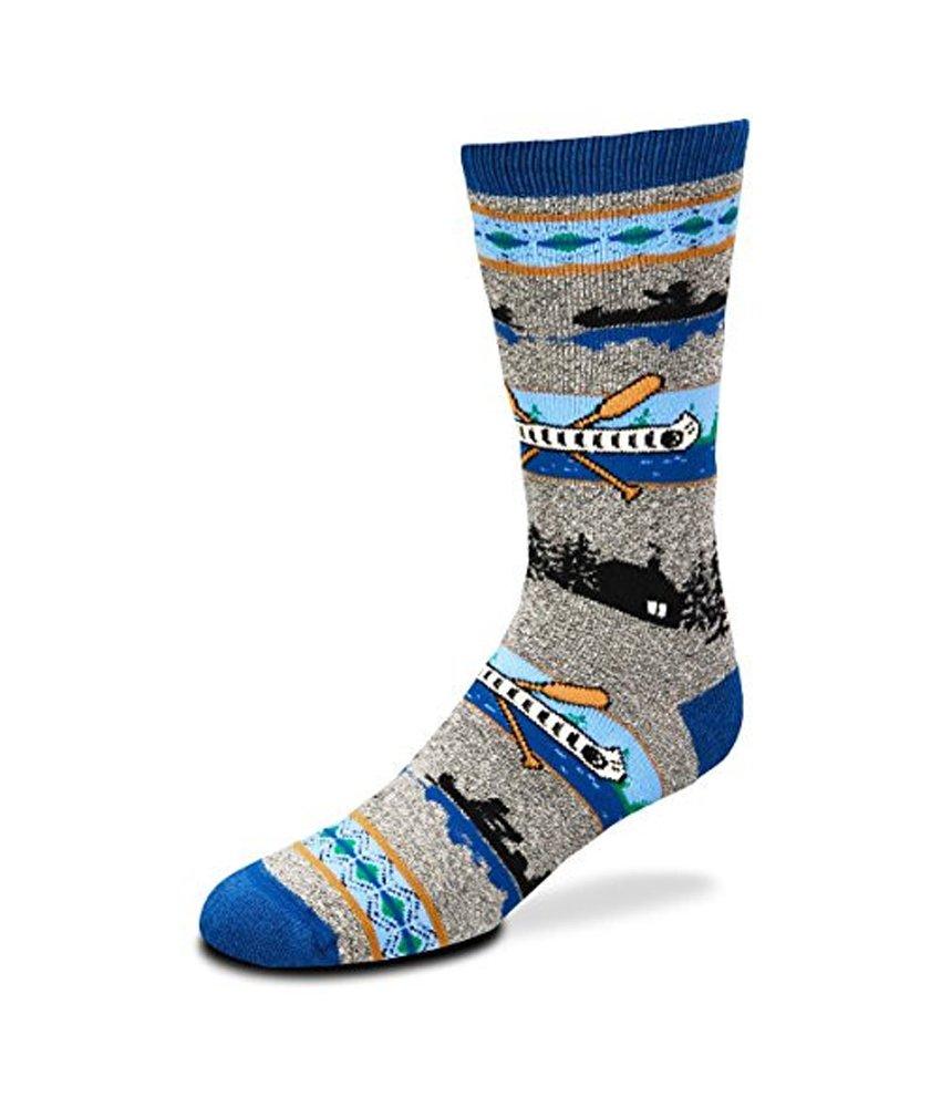 For Bare Feet Canoe River Marbled Grey Slipper Sock Plush Med