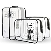 3pcs/Pack ANRUI Clear Toiletry Bag Travel Luggage Pouch Makeup Bags Cosmetic Bag Organizer for Women Men Kids