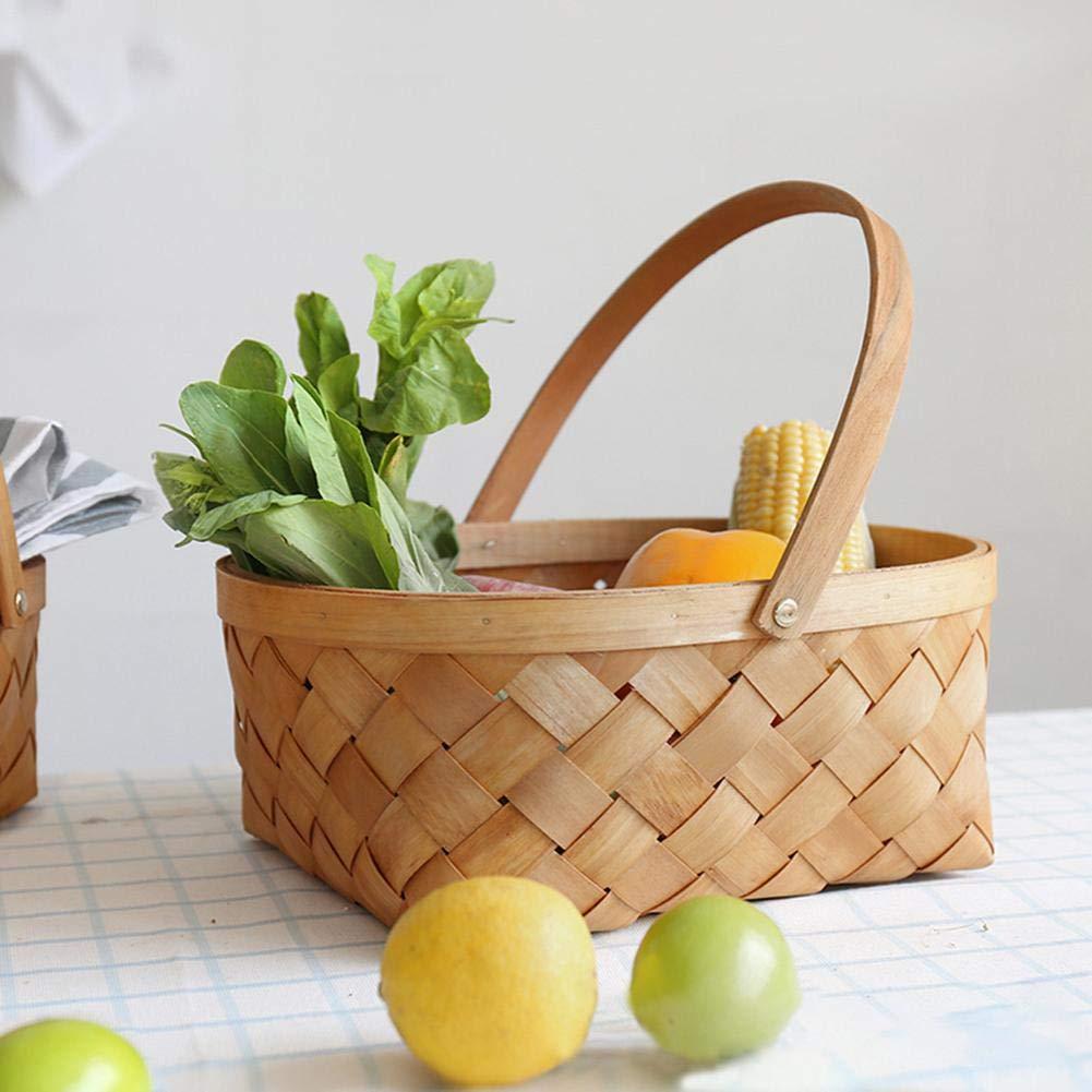 rosemaryrose Hamper Basket Baskets Wicker Basket Hamper Baskets Empty Gift Basket Picnic Baskets with Handle Woven Basket