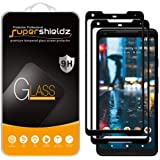 (2 Pack) Supershieldz for Google (Pixel 2 XL) Tempered Glass Screen Protector, (Full Screen Coverage) 0.32mm, Anti Scratch, B