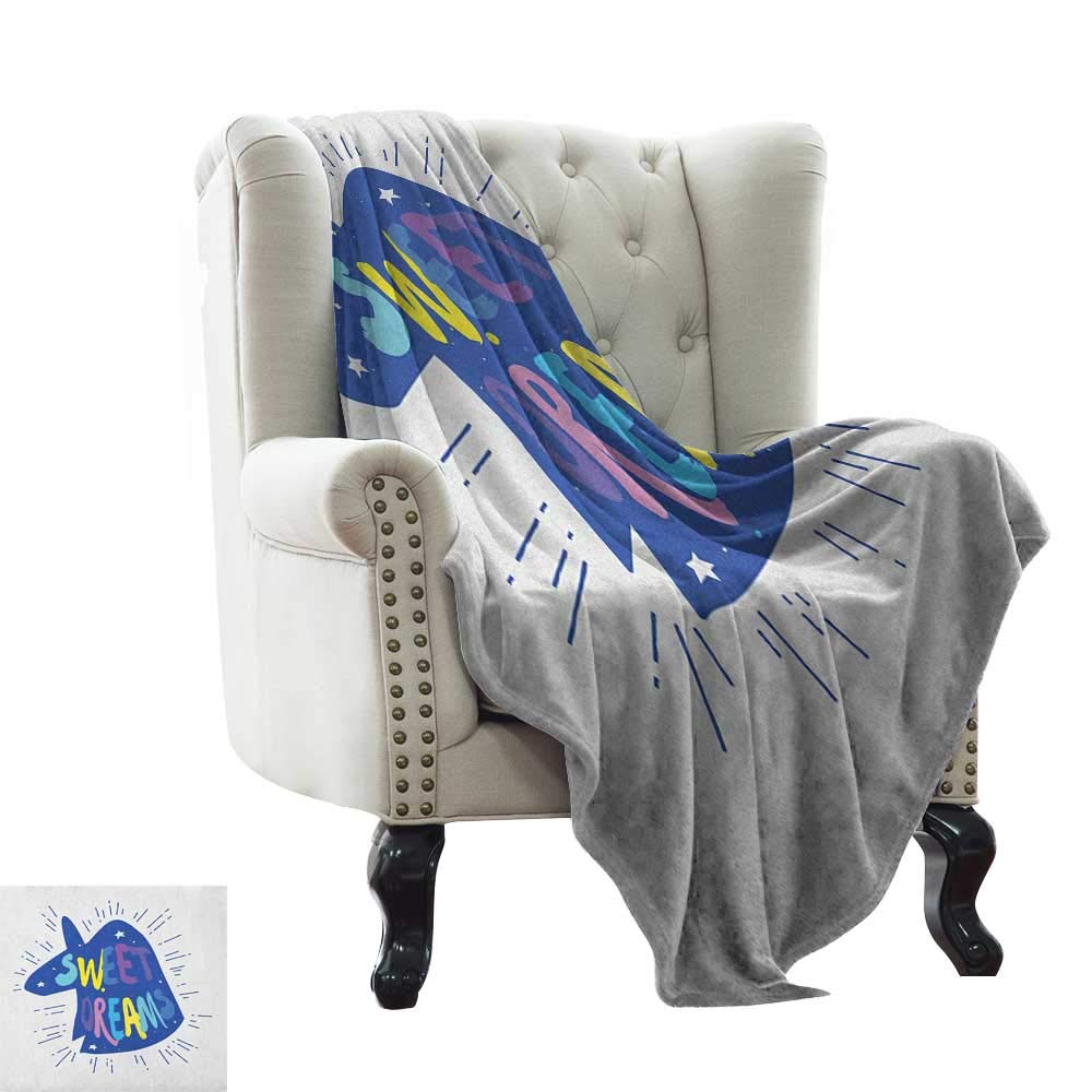 color11 70 x90  Inch BelleAckerman Travel Throw Blanket Swan,Rainbow colord Cute Swans Pattern Birds Wings Themed Nursery Kids Artistic Print, Multicolor Microfiber All Season Blanket for Bed or Couch Multicolor 50 x60