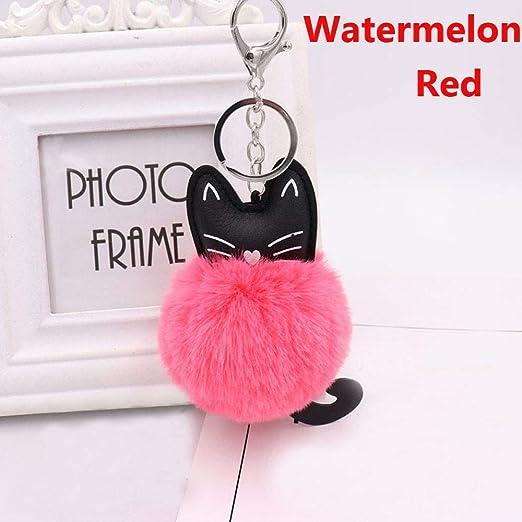 Lmyxy Llavero 1 Pieza Bonito Pompom Fluffy Keychain Hermoso ...