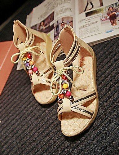 LFNLYX Zapatos de mujer-Tacón Plano-Cuñas / Comfort / Innovador / Puntiagudos / Botas a la Moda / Zapatos y Bolsos a Juego / Zapatillas- beige