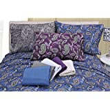 Paisley Flannel Duvet Cover by ExceptionalSheets, King/Cal King, Purple