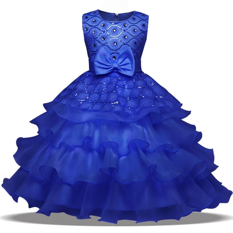 ❤️Kobay Blumen-Baby-Mädchen-Prinzessin Bridesmaid Festzug-Kleid ...