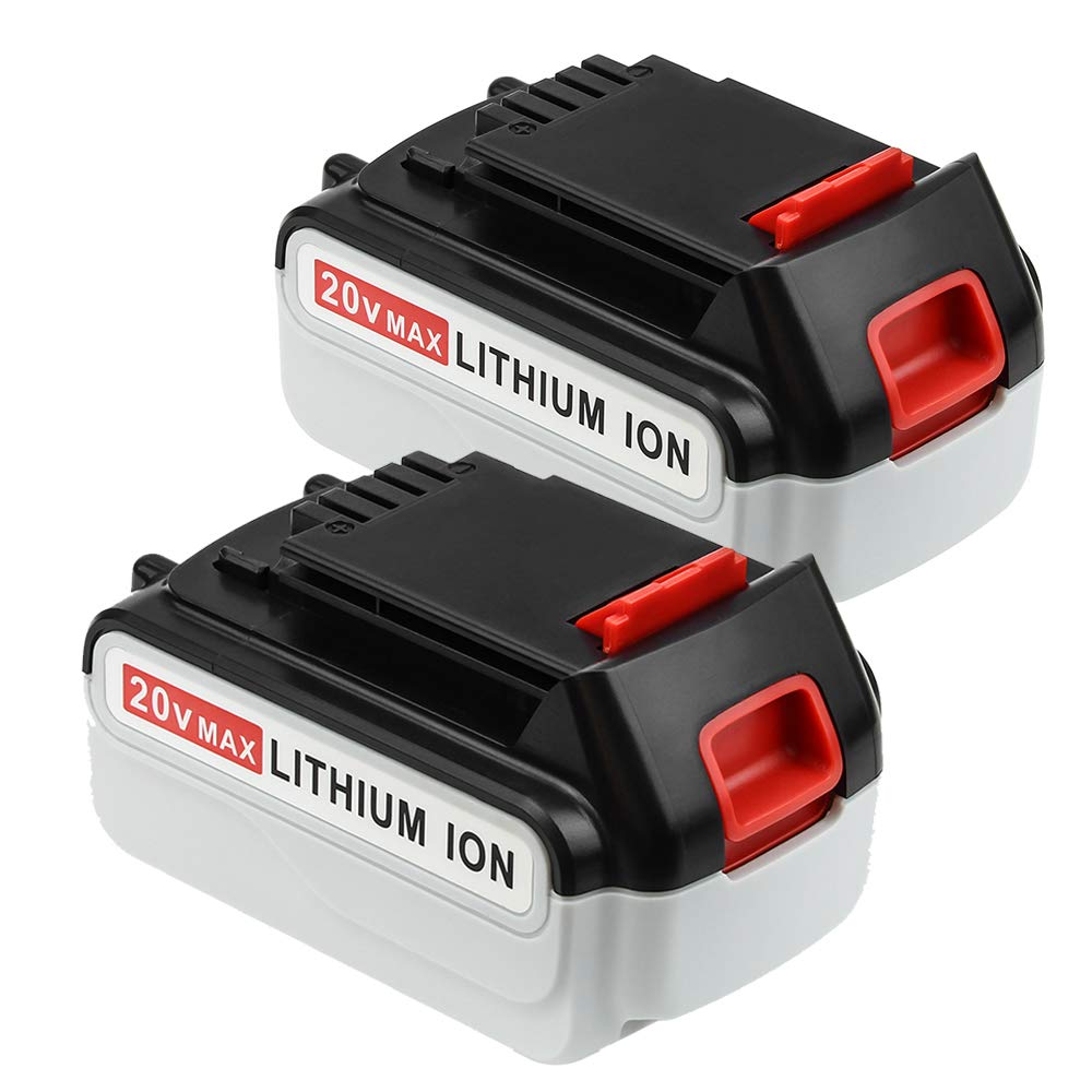 2 Pack 4000mAh Replace for Black and Decker 20V Battery Max LBXR20 LB20 LBX20 LST220 LBXR2020-OPE LBXR20B-2 LB2X4020 Power Tools