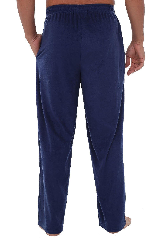 Alexander Del Rossa Mens Warm Fleece Pajama Pants Long Lounge Bottoms