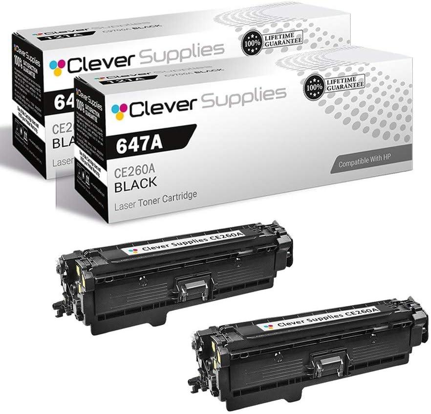 CS Compatible Toner Cartridge Replacement for HP CP4025 CE260A Black HP 647A Color Laserjet CP4000 CP4500 CP4525 CP4525dn Enterprise CP4025 2 Set