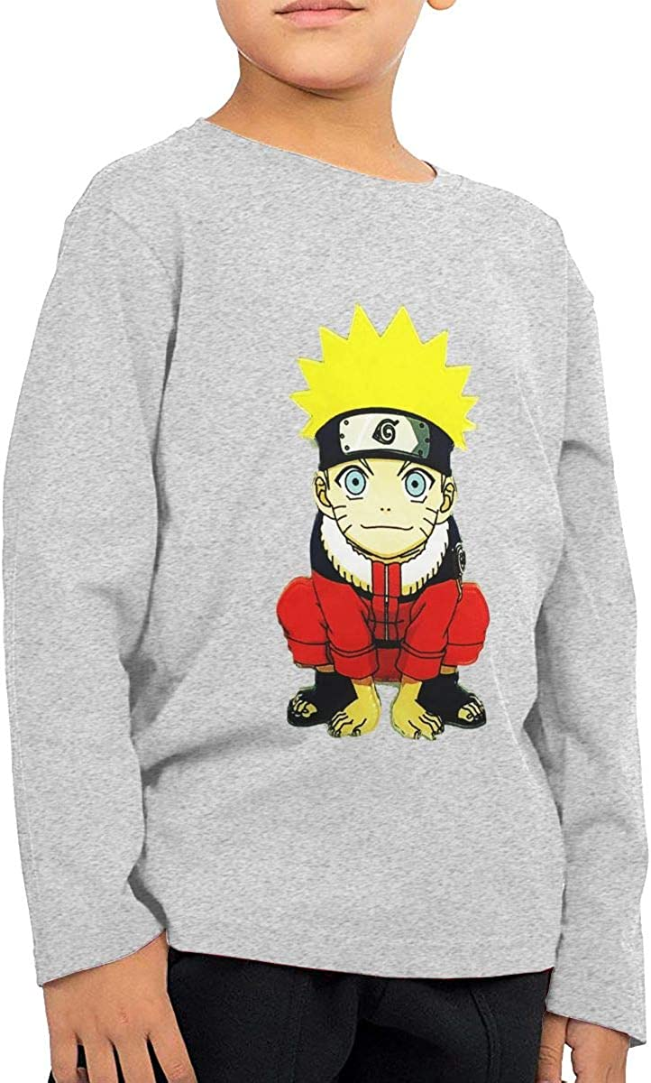 GongCZL Designed Naruto Sign T Shirts for Baby Gray
