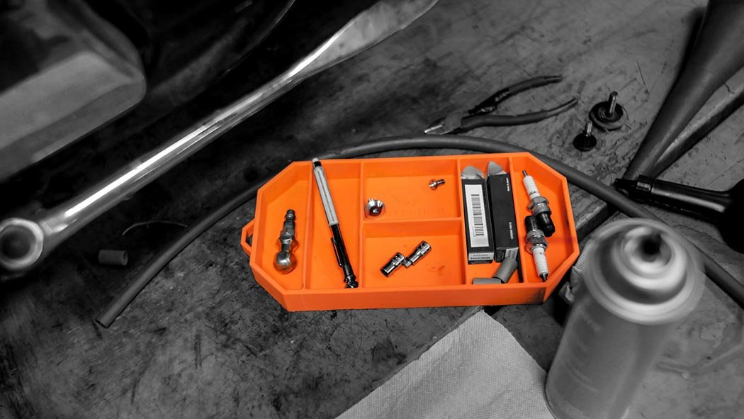Grypmat | Non-Slip Flexible Orange Tool Tray | Tool Box Organizer | Socket Organizer | Tool Holder | Tool Mats | No Magnets | Easy Clean Up | As Seen On Shark Tank (Small) by Grypshon (Image #5)