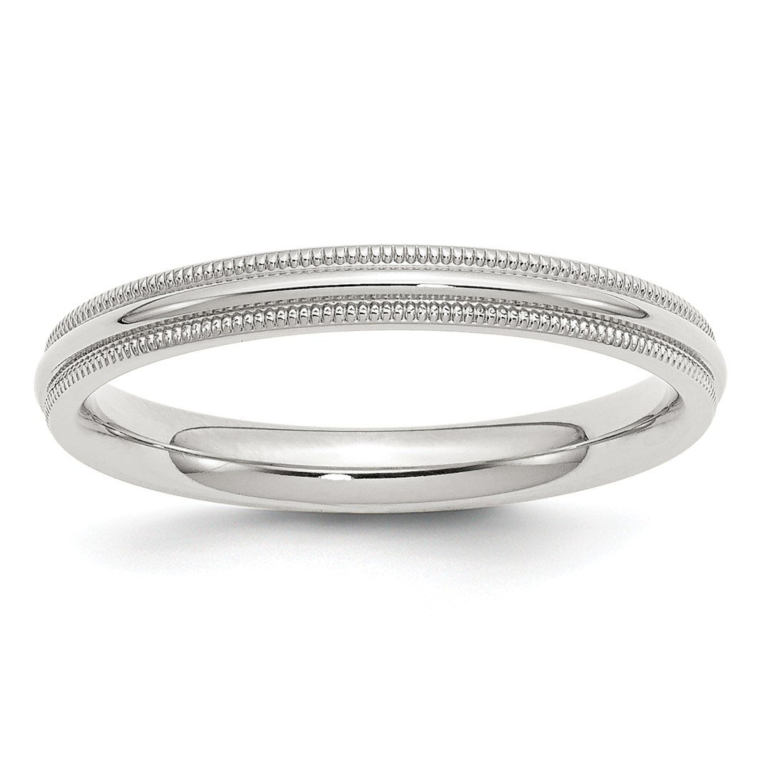 ICE CARATS 925 Sterling Silver 3mm Comfort Fit Milgrain Size 9 Wedding Ring Band Classic Half Round Fine Jewelry Ideal Gifts For Women Gift Set From Heart