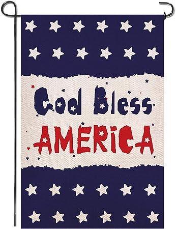 "AMERICANA GOD BLESS AMERICA GARDEN FLAG 12.5/""x18/"""