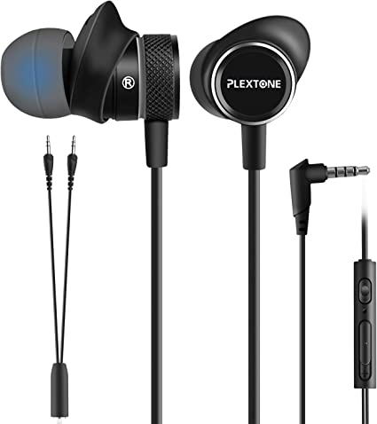 2.0 Speaker 3.5mm Wired Headphone w// mic Bass Omnidirectional Stereo Sound