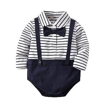 82e2aedadf7a Amazon.com  Hot Sale!!Newborn Infant Baby Boys Romper Long Sleeves ...