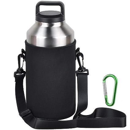 f63aea2ec41 EEEKit Water Bottle Sleeve for 64oz YETI Rambler Ozark Rtic Stainless Steel  Bottle(64oz)