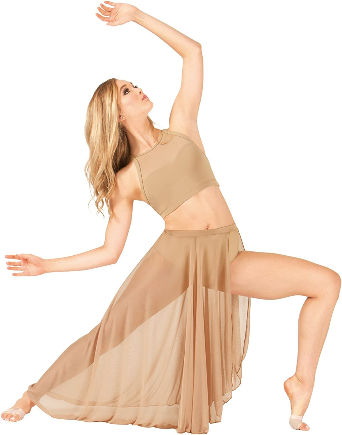 Body Wrappers Adult Long Mesh Dance Skirt BW9105