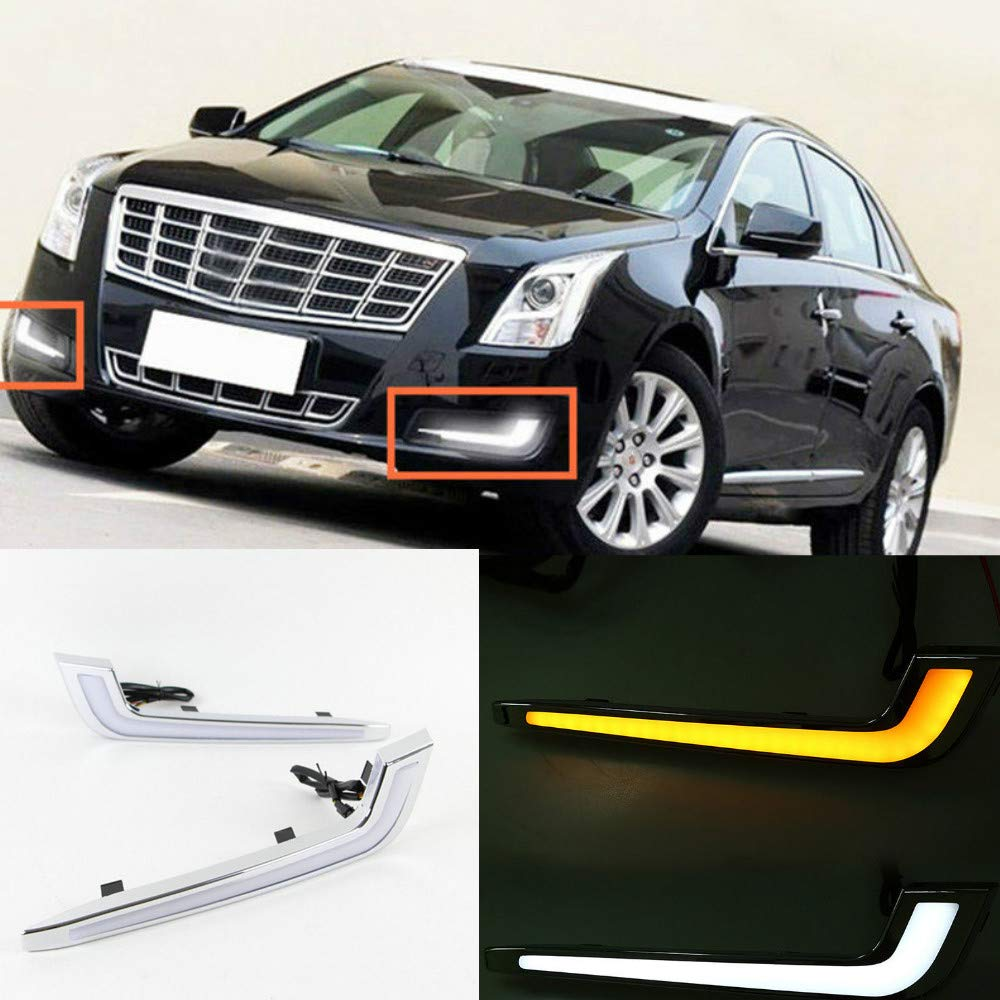 Amazon com: For Cadillac XTS Daytime Running Light LED DRL