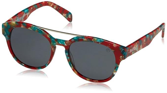 Mammut Oyambres Gafas de sol, Havana/Rojo, 50 Unisex: Amazon ...