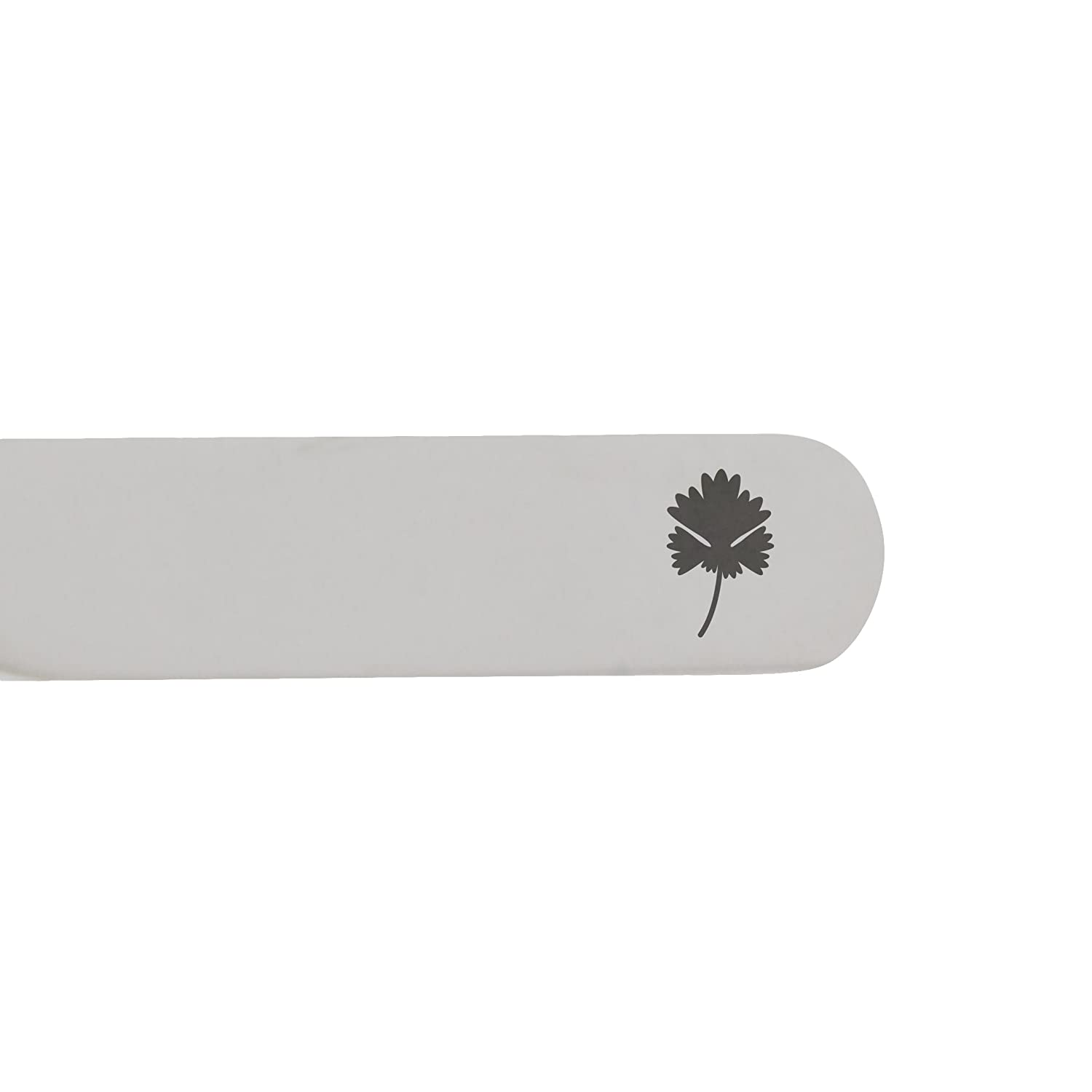 Made In USA 2.5 Inch Metal Collar Stiffeners MODERN GOODS SHOP Stainless Steel Collar Stays With Laser Engraved Cilantro Design
