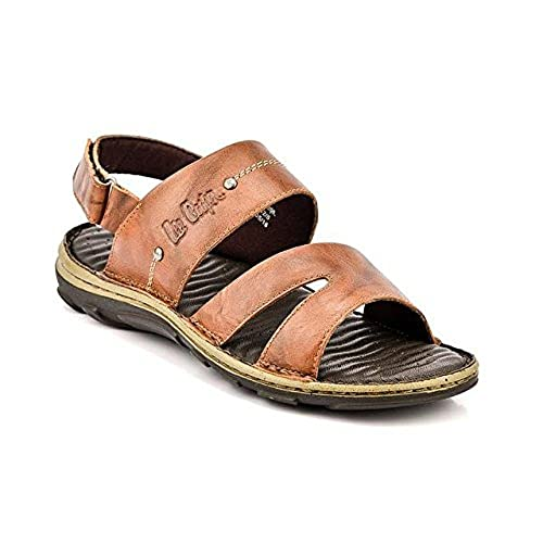 5310223da1b Lee Cooper Men s Leather Sandals and Floaters  Buy Online at Low Prices in  India - Amazon.in