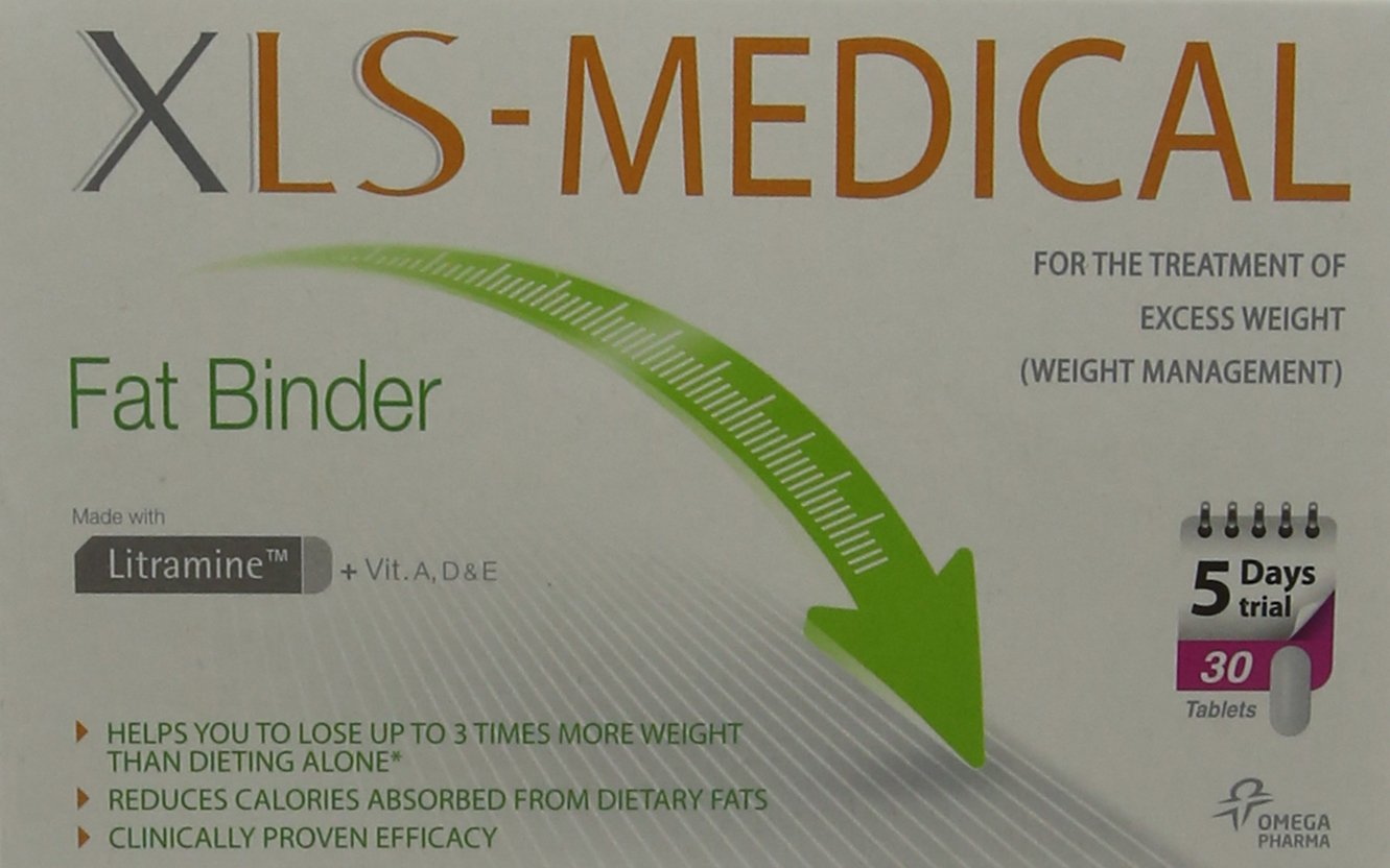 XLS Medical Fat Binder Tablets Weight Loss Aid - 5 Day Trial Pack Tablet,  30 Tablets