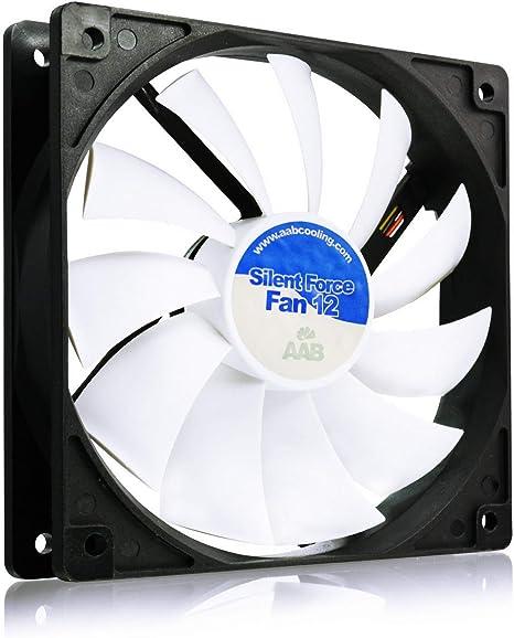 AAB Cooling Silent Force Fan 12 - Ventilador PC de 120mm / 12V ...