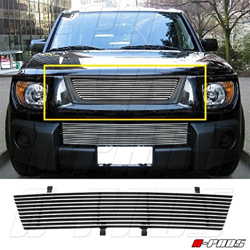 A-PADS Polished REPLACEMENT Billet Grille for 2003 2004 2005 2006 HONDA ELEMENT 1PC Upper WITHOUT LOGO CUTOUT
