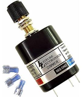 leisure lectronics 12 volt pwm light dimmer switch, 12v led & incandescent  - boat,