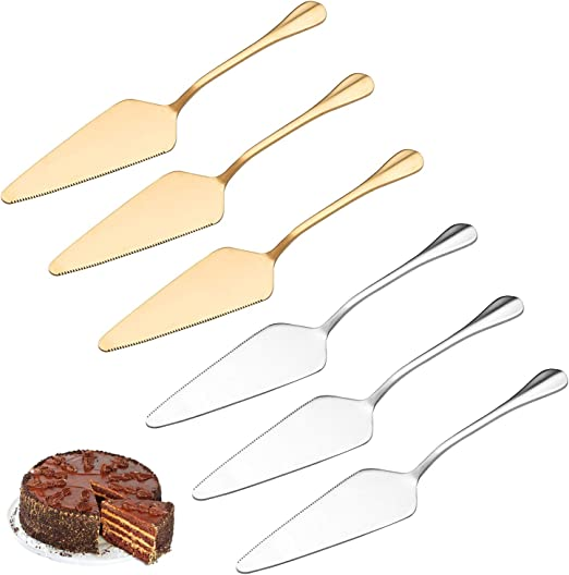 Amazon Com Pie Cake Server Stainless Steel Cake Cutter All In One Server With Serrated Cutting Edge Great For Thanksgiving Halloween Christmas New Year Wedding Birthday Party Safe In Dishwasher 6