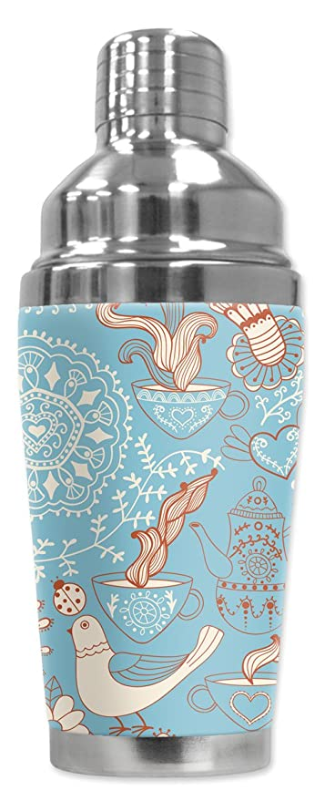 Zen Coffee Mugzie brand 16-Ounce Cocktail Shaker with Insulated Wetsuit Cover