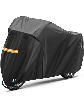 94181299610 TOPVORK Funda para Moto, Impermeable Funda Protector Cubierta para  Motocicleta 210D, Cubierta de la