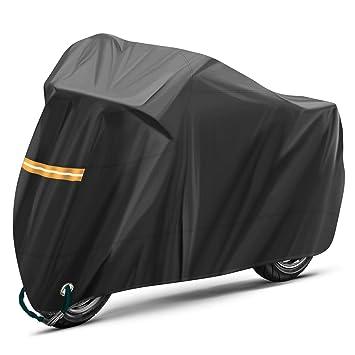 Motorcycle Cover waterproof Heavy Duty for Winter Outside Storage XXL Snow Rain