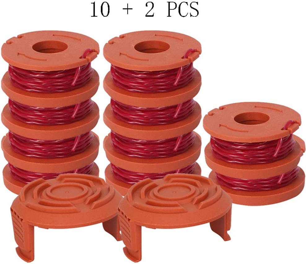 """WA0010 Spool, WA0010 Replacement Trimmer Spool for Worx Grass Trimmer Spool Line .065"""" 10ft - for Worx WG180 WG163 Weed Wacker Eater String with WA6531 GT Spool Cover 50006531 by BOOTOP: Garden & Outdoor"""