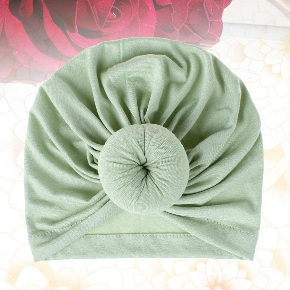 Minkissy Baby Turban Headwraps Newborn Hospital Hats Soft Bow Infant Toddler Beanie Cap