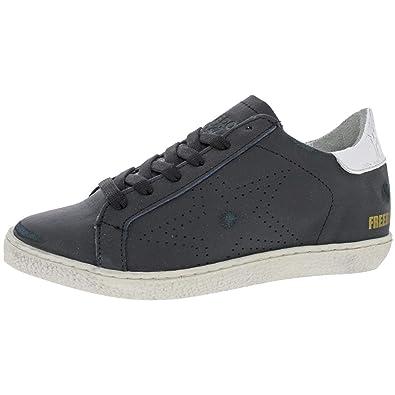 6f54d731fdb Steve Madden Freebird Women Leather Fashion Sneaker Shoe Black Size 8