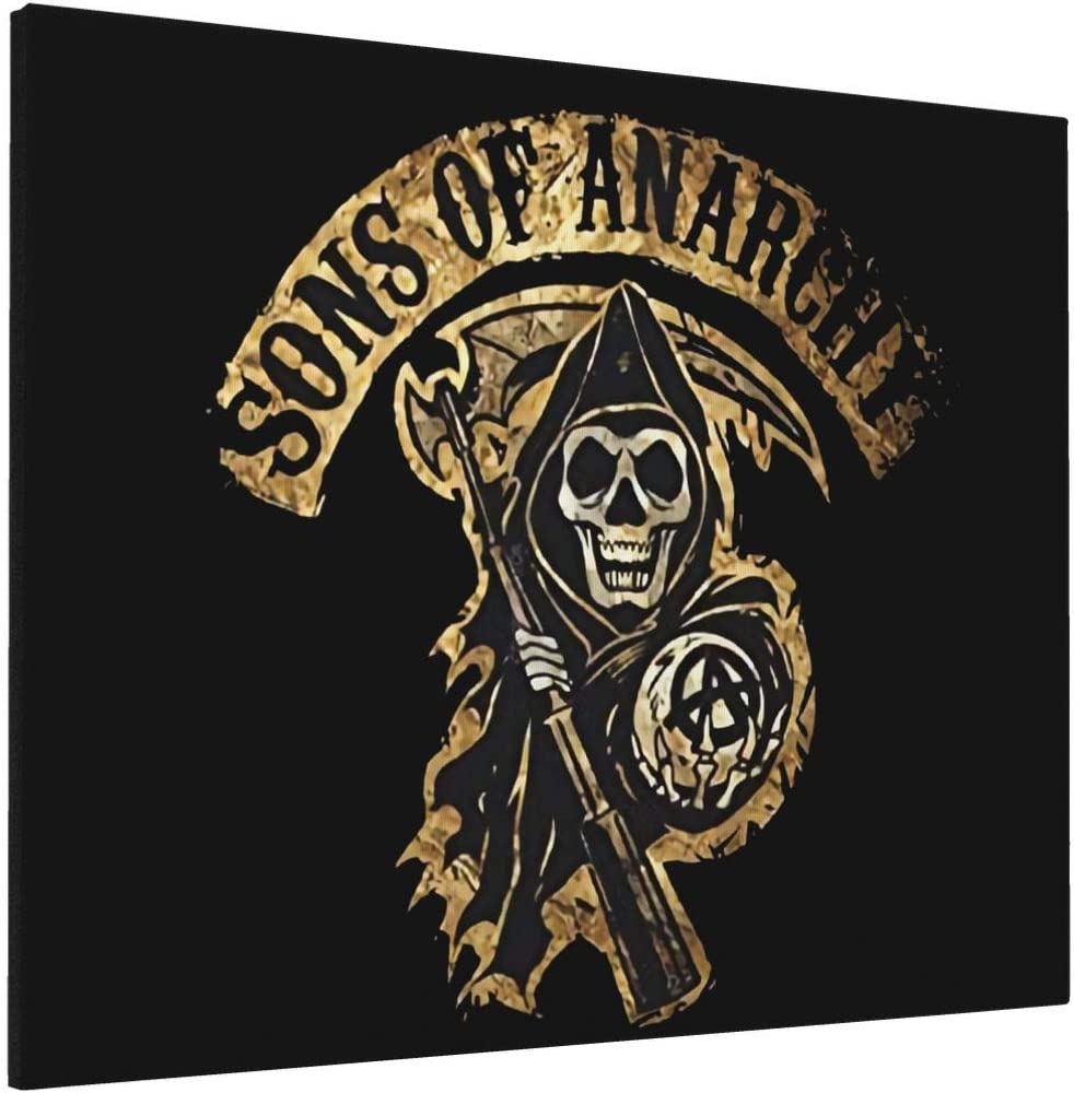Painting Wall Art Board Painting Decal Stickers for Home Walls Sons of Anarchy Home Decor Wall Art 16x20inch