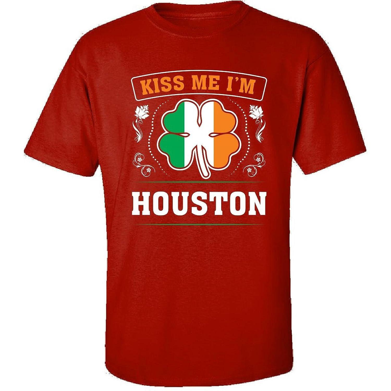Kiss Me Im Houston And Irish St Patricks Day Gift - Adult Shirt