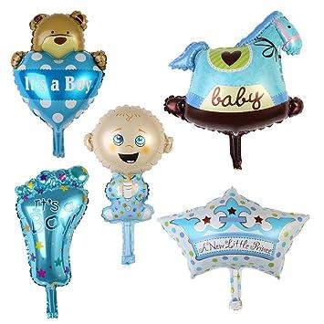 Oyamihin BZ623 5Pcs Baby 1 Year Old Birthday Balloons With Cute