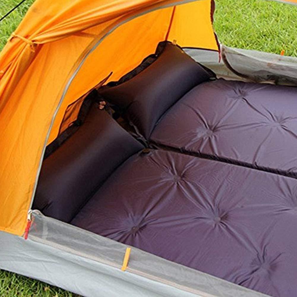 lujiaoshout Autoinflable Saco de Dormir para Interior y Exterior Uso Ultraligero y Compacto Bolsas Hacer Senderismo Camping y excursiones p/úrpura