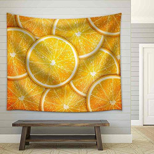 Orange Fruit Slices Background Fabric Wall
