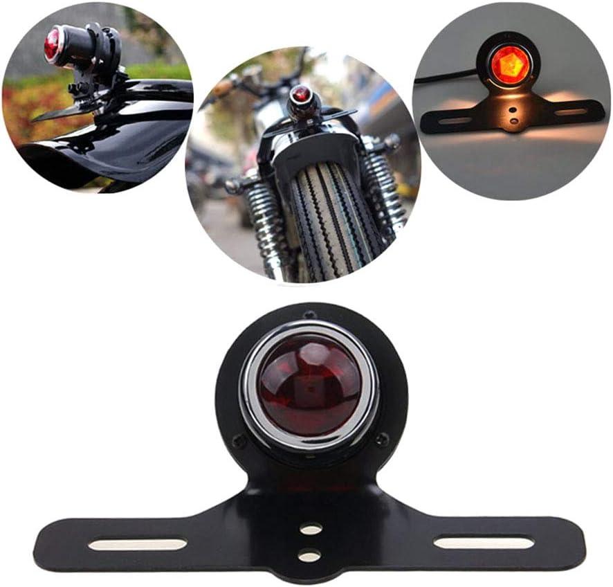 R/ücklicht Motorrad Bremsbremslicht F/ührerscheinschild Light Metal Retro Ruby Lampe