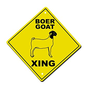 Amazon.com: Aluminum Cross Sign Boer Goat Crossing Metal ...