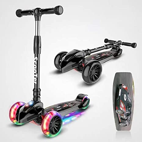 JINHH Patinete 3 Ruedas Luces led, Scooter para Niños ...