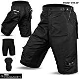 MTB Cycling Short Off Road Cycle Bicyle Coolmax Padded Liner Shorts
