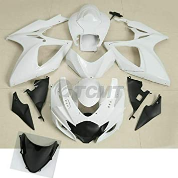 XMT-MOTO Injection Molded ABS Plastic Fairing Bodywork Kit fits for Kawasaki Ninja 300 2013 2014 2015 2016 2017,Unpainted White