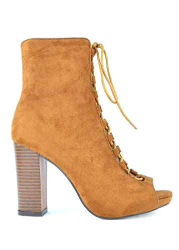 Benjamin-2 Lace-Up Booties With Chunky Heel