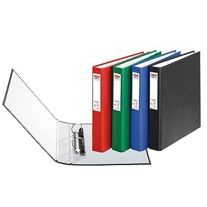 4 Herlitz Anillo libros/DIN A5 archivador con 2 anillas en ...