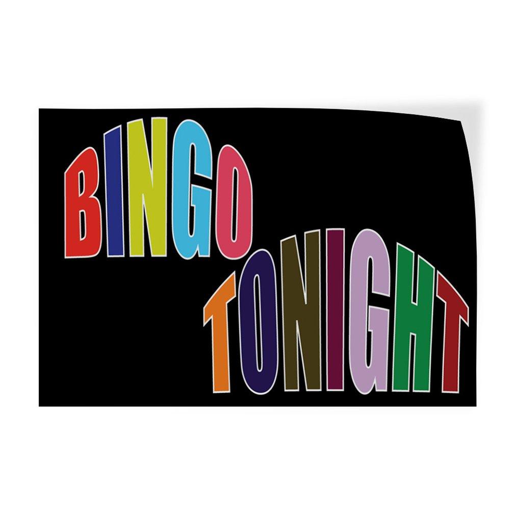 Bingo Tonight #1 Indoor Store Sign Vinyl Decal Sticker - 19.5inx48in, by Sign Destination